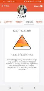 PitPat Dog Activity Monitor Lap Of Loch Ness