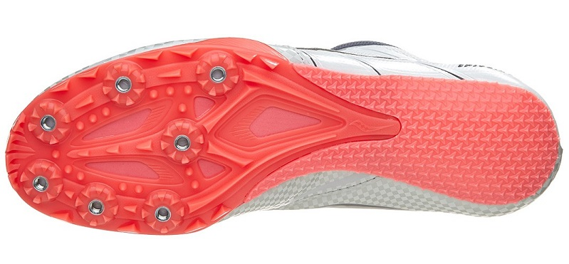 Track Spikes Have A Plastic Rigid Outsole Compared To XC Running Spikes